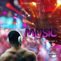 music Mixtape/Album Cover Art ปกอัลบั้ม template