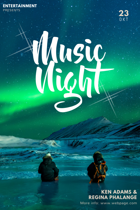 Music Night aurora Poster Template