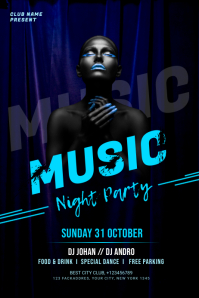 Music Night banner template