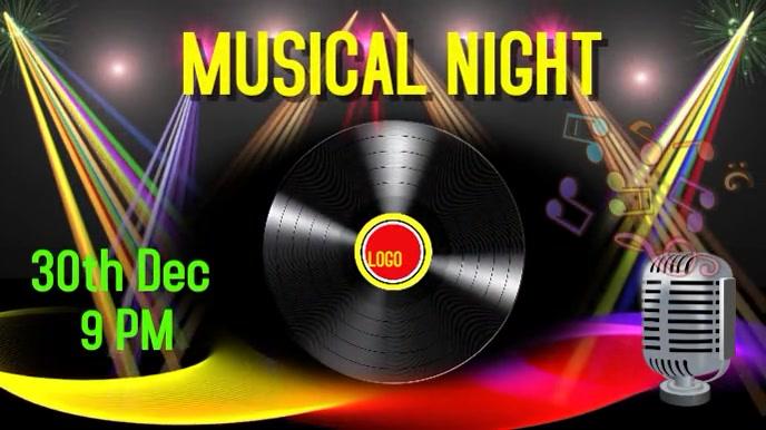 Music Night Pantalla Digital (16:9) template