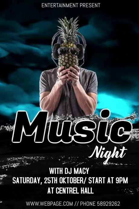 Music night event flyer template