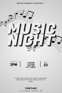 Music Night Flyer Design Template