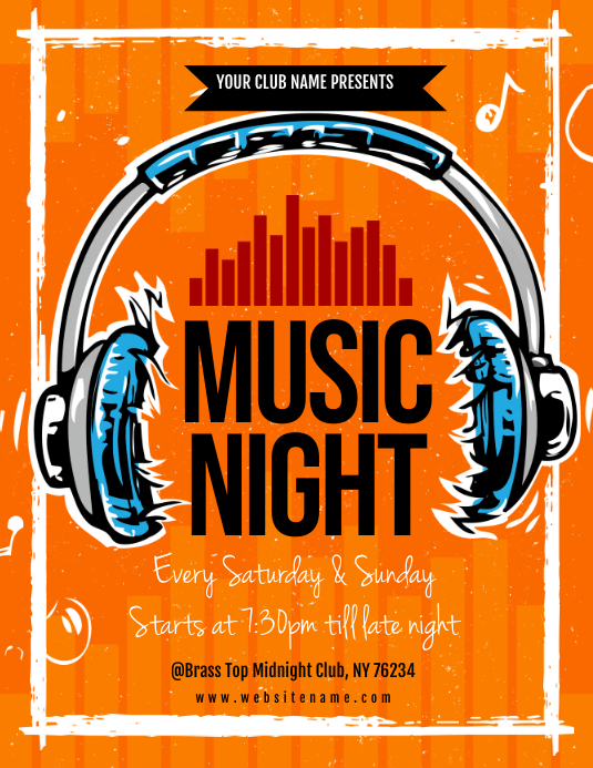 Music Night Flyer