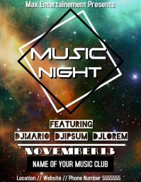 Music night flyer party template