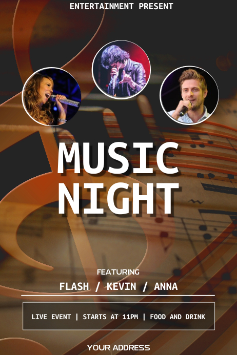 Music night flyer template