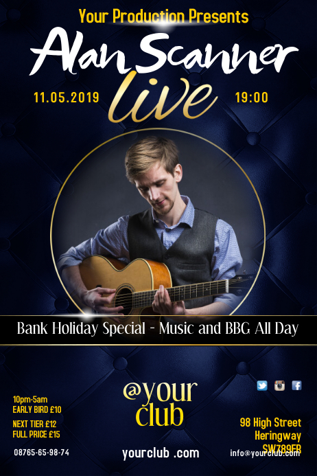 Music night live poster