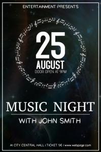 Music Night Mandala Stars Event Flyer Template