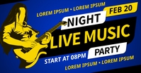 MUSIC NIGHT PARTY BANNER Facebook Gedeelde Prent template
