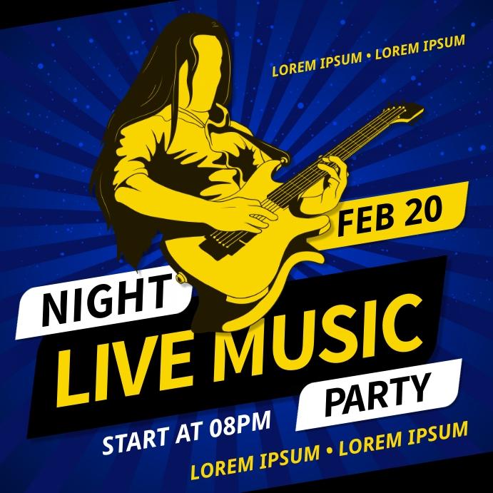 MUSIC NIGHT PARTY BANNER Publicação no Instagram template