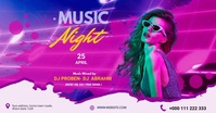 Music Night party facebook share image template