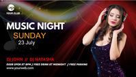 music night party social media post Header Blog template