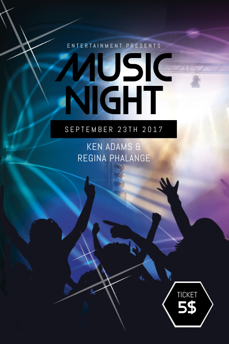 copy of music night flyer template postermywall. Black Bedroom Furniture Sets. Home Design Ideas
