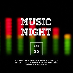 Music night Video Advertising template for instagram