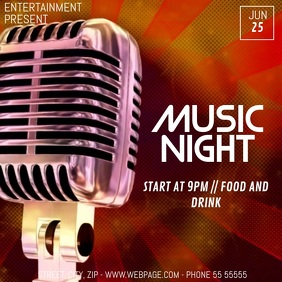 Music night video flyer template