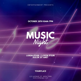Music Night Video Promotion template