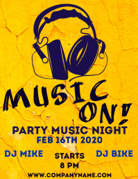 Music on flyer party