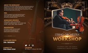 Music Opera Workshop Informational Trifold Br template