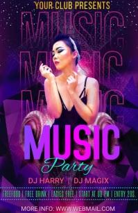 Music party Halbe Seite breit template
