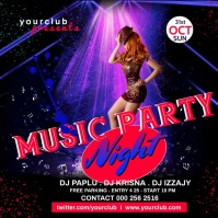 Music PARTY Pos Instagram template