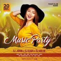 Music party Publicación de Instagram template