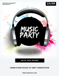 Music Party Dj Flyer template