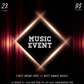 music party event video advertising template