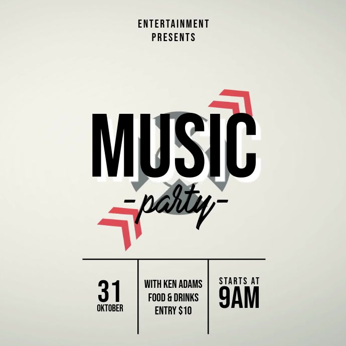 Music party event video advertising template for instagram