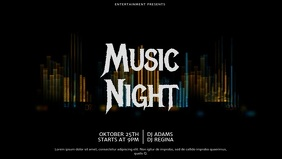 Music Party Event video template for facebook cover