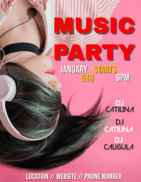 Music party flyer