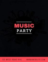 MUSIC PARTY Flyer Template 传单(美国信函)