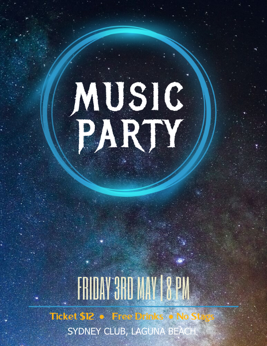Music party galaxy flyer
