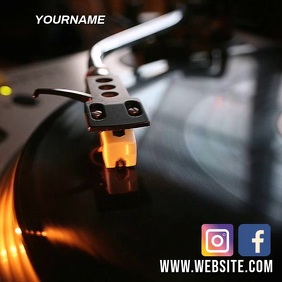 MUSIC PARTY NIGHT AD SOCIAL MEDIA TEMPLATE