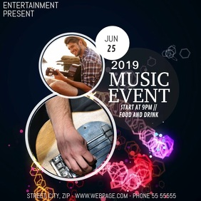 Music party video flyer template