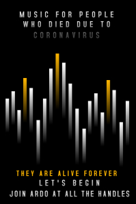 Music Performance for covid-19 deaths Poster