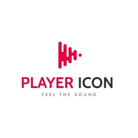 music play icon logo