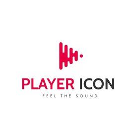 music play icon logo
