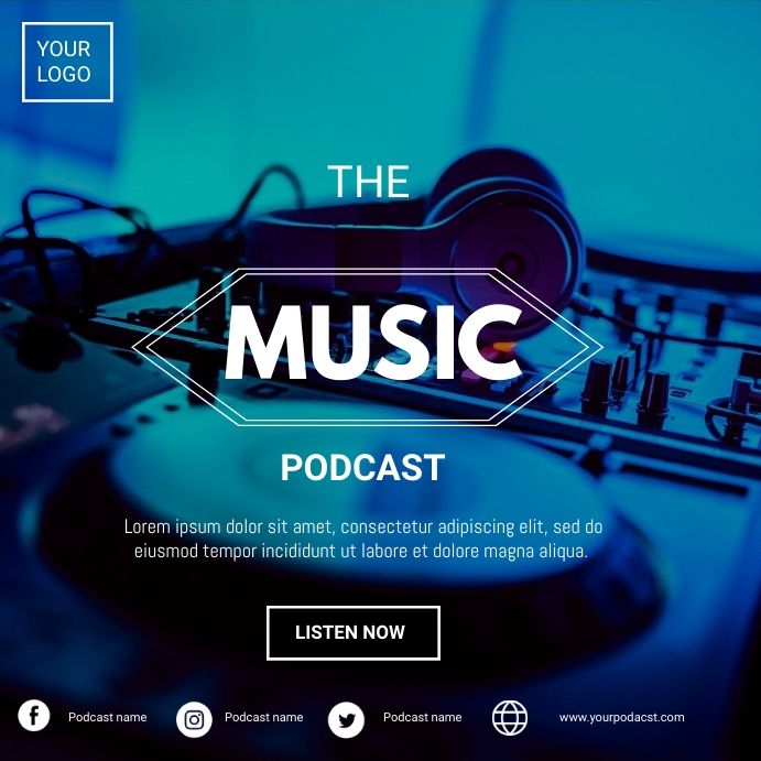 Music podcast Pos Instagram template