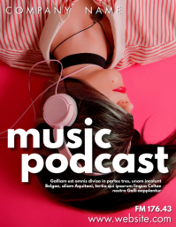 music podcast design template advertisement f Flyer (US-Letter)
