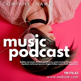 music podcast instagram post advertisement template
