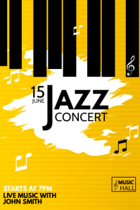 Music poster Event poster, Concert poster,jazz poster
