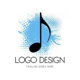 Music Production Logo Notes Design Template