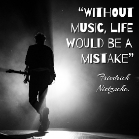 Music Quotes Post Instagram template