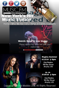 Music Radio Station Flyer