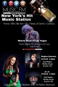 Music Radio Station Flyer