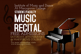 Music Recital Poster Template