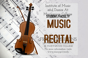 Music Recital Poster Template