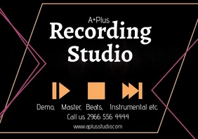 Music recording studio A2 template
