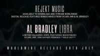 Music Release Видеообложка профиля Facebook (16:9) template
