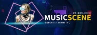 MUSIC SCENE DJ Facebook Cover Video template