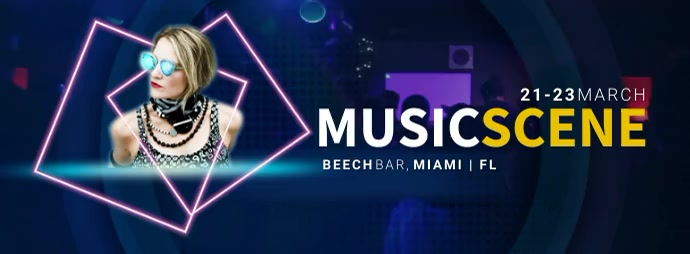 MUSIC SCENE DJ Facebook Cover Video template